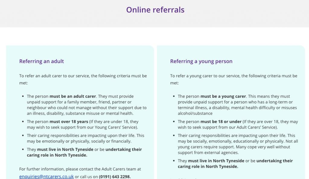 Referral-criteria